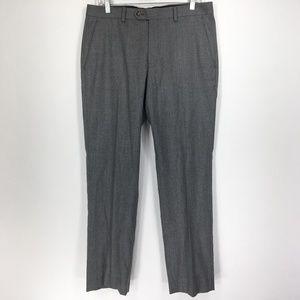 L Ralph Lauren 33x30 Pants Dress Flat Front Gray